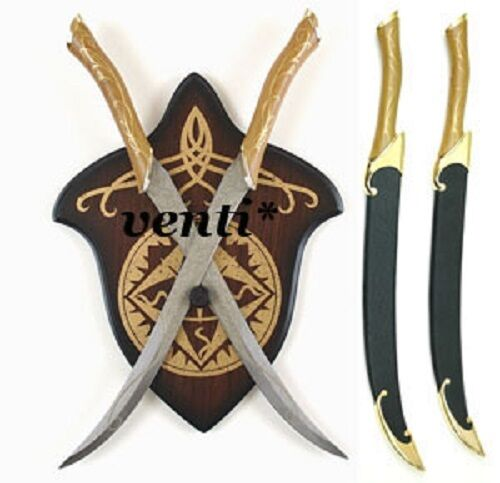LEGOLAS FIGHTING KNIVES WITH RIGID SCABBARDS AND WALL ...