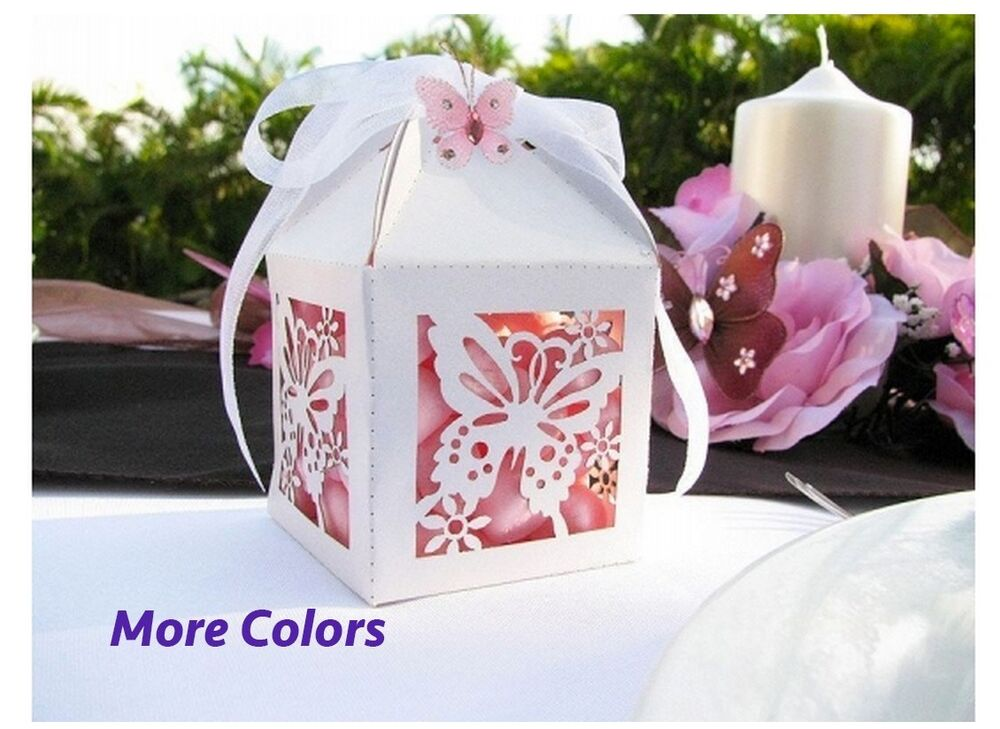 Favor Gift Boxes: Lot 12 Butterfly Favor Boxes: Party Birthday Wedding
