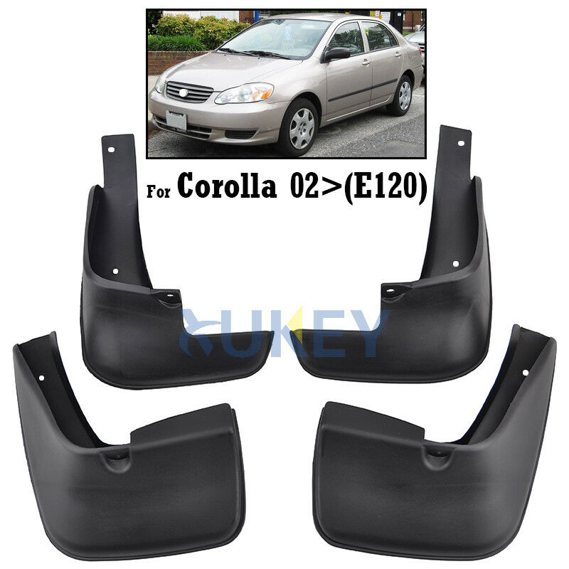 front rear fit for 2002 2005 toyota corolla mud flap flaps. Black Bedroom Furniture Sets. Home Design Ideas