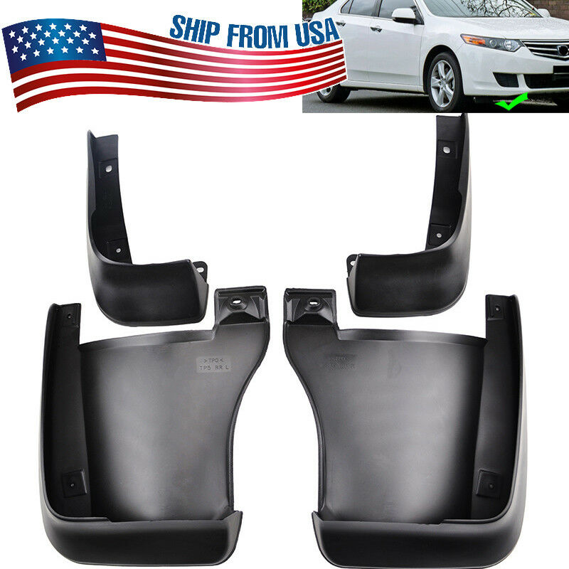 Set Fit For 2009 2012 2013 2014 Acura Tsx Mud Flap Flaps Splash Guards Mudguard Ebay