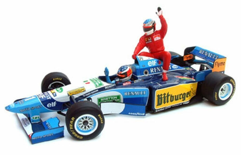 MINICHAMPS 181 952701 Benetton Renault B195 model F1 car Alesi