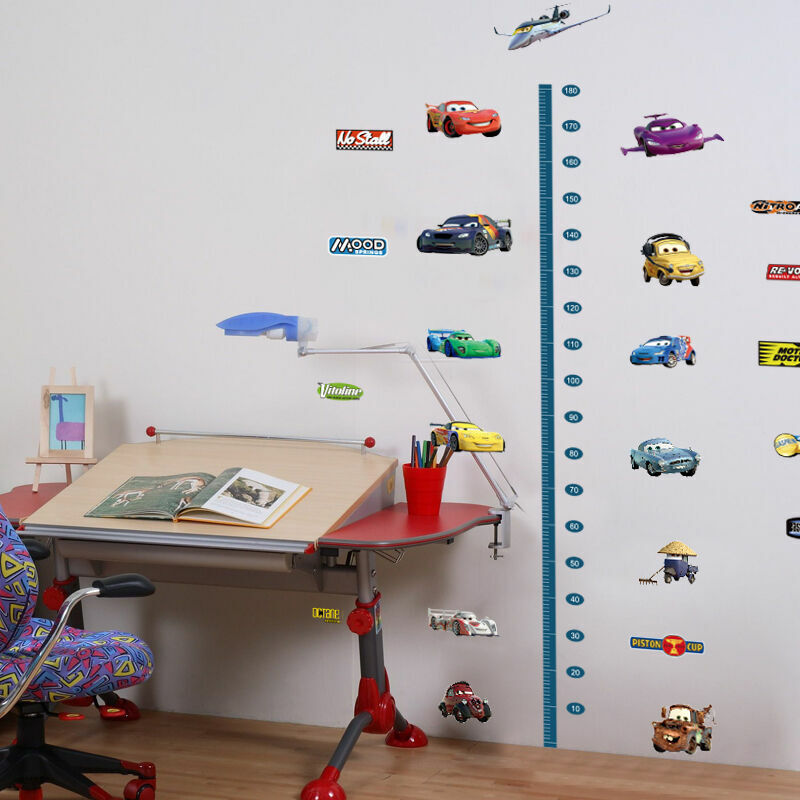 Disney cars height chart removable wall stickers kids boys for Disney cars large wall mural