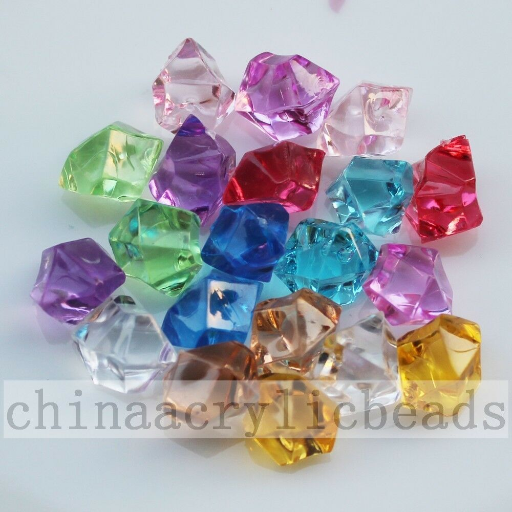 100pcs acrylic crystal ice rocks vase filler plastic gems for Plastic gems for crafts