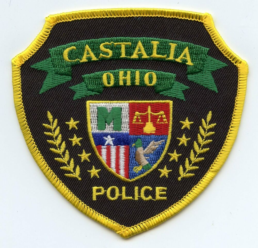 Old Vintage CASTALIA OHIO OH POLICE PATCH