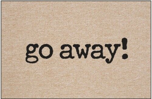 Go Away Doormat 18x27 Humorous Welcome Mat Novelty