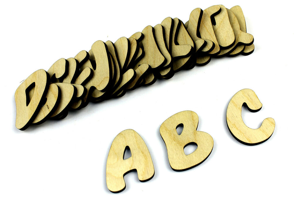 Small 26 wooden alphabet letters wall hanging nursery for Alphabet decoration
