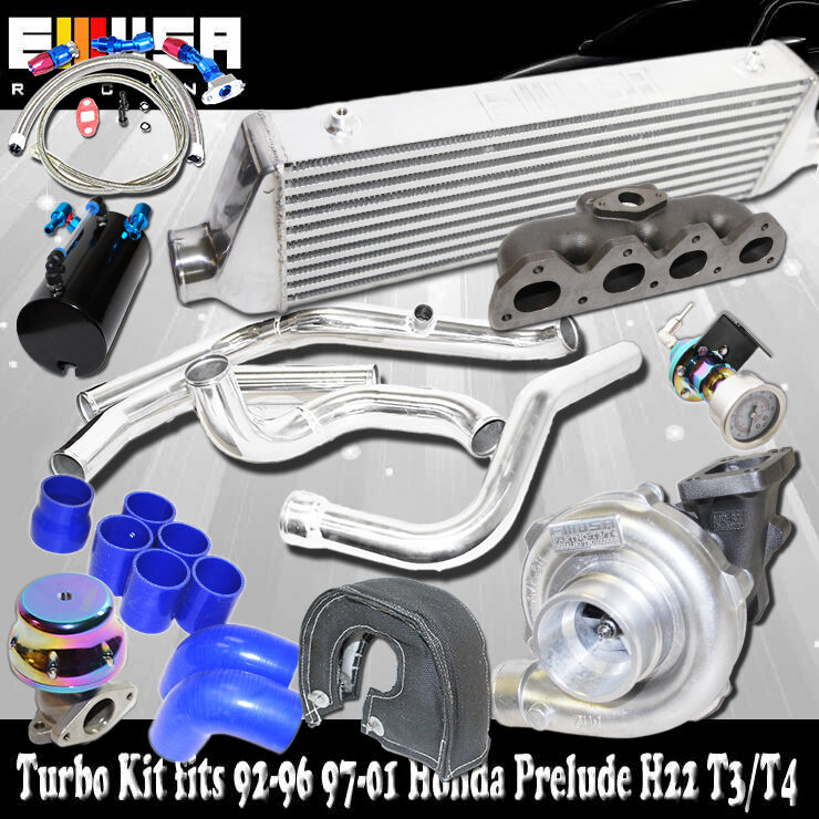 turbo intercooler kit manifold for 93 01 honda prelude h22. Black Bedroom Furniture Sets. Home Design Ideas