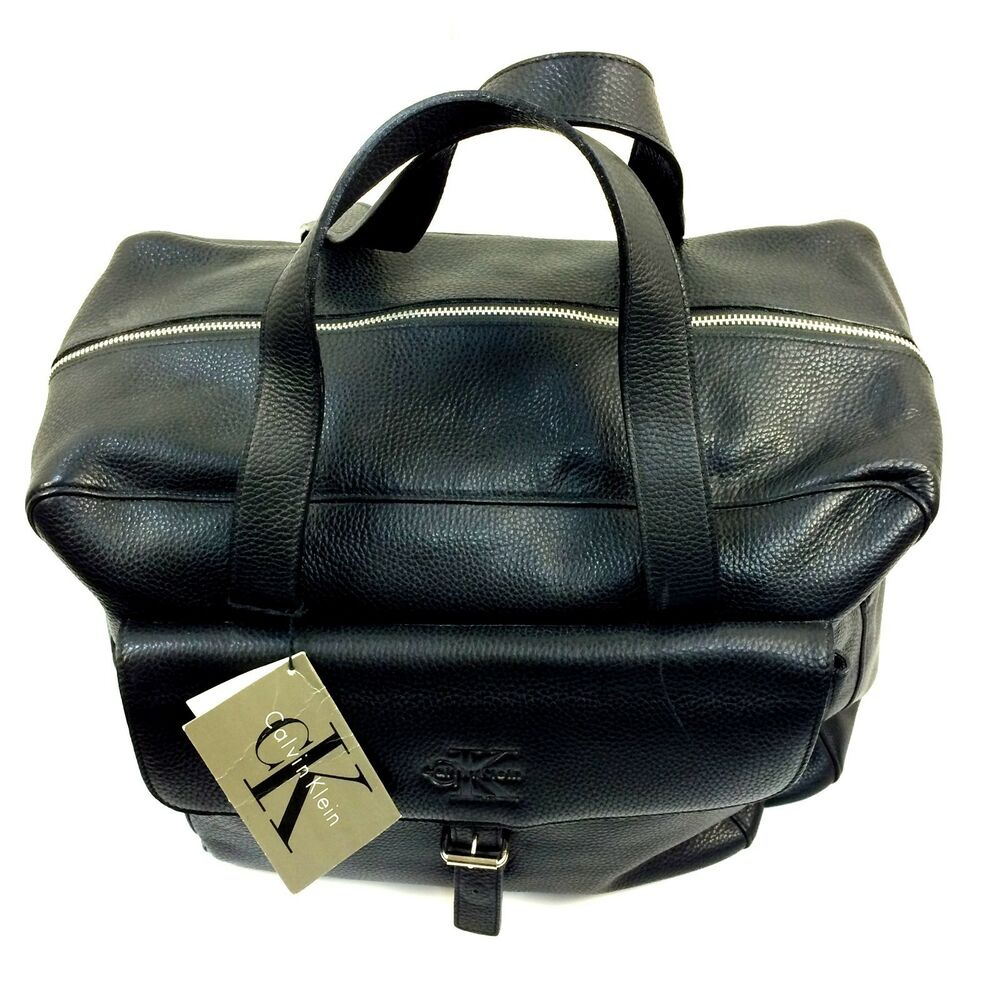 ck calvin klein carry on leather bag 16 x 14 x 8 inches
