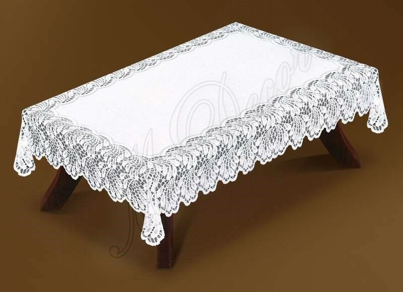 Tablecloth Lace Large Rectangular White Or Cream 150x300cm