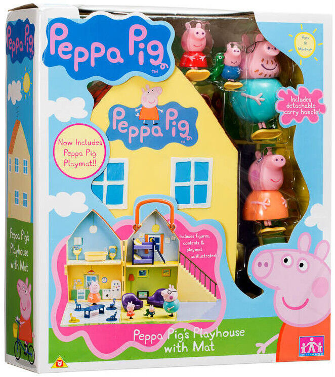 Peppa Pig Peppa Pig S Playhouse With Figures Daddy