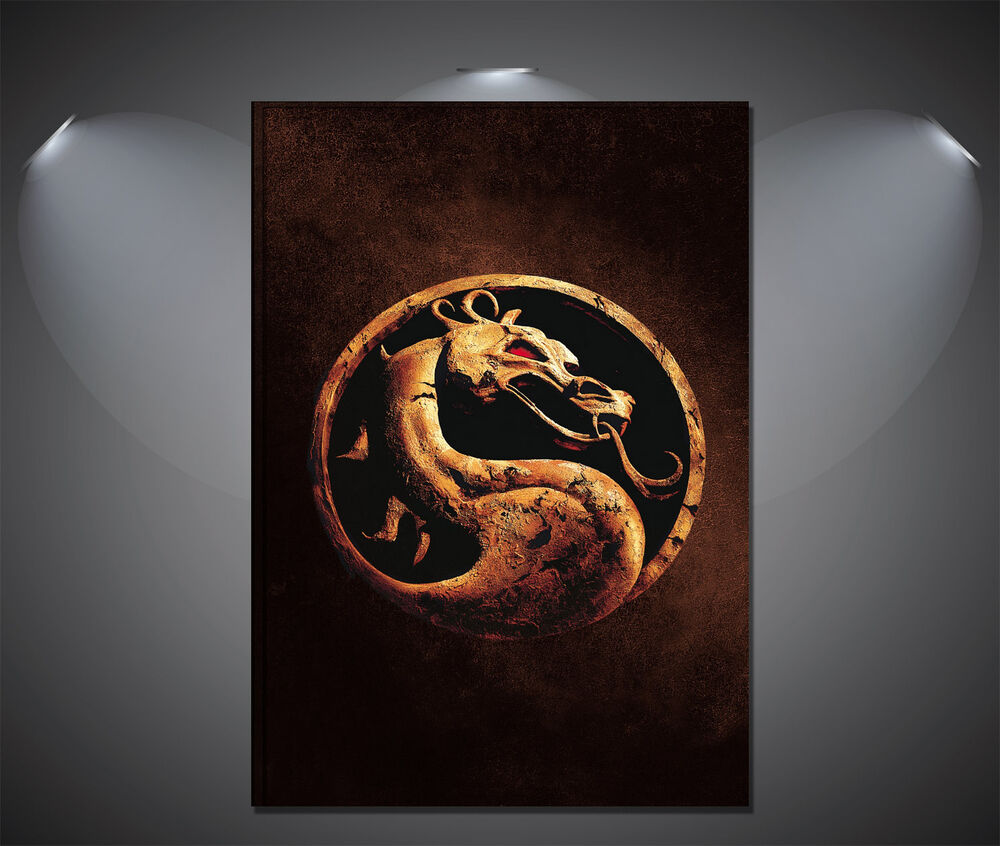 mortal kombat logo movie poster a1 a2 a3 a4 available