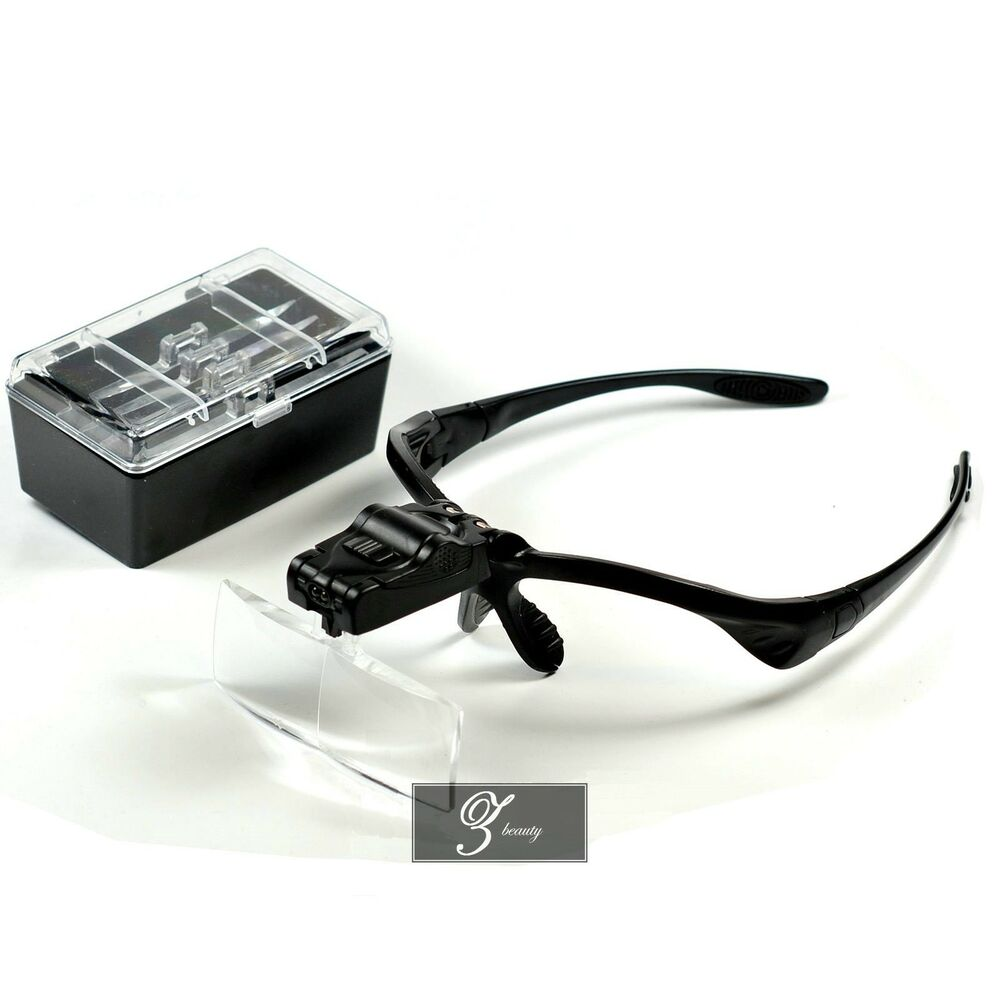 magnifier magnifying glass eyelash extension led hands free ebay. Black Bedroom Furniture Sets. Home Design Ideas