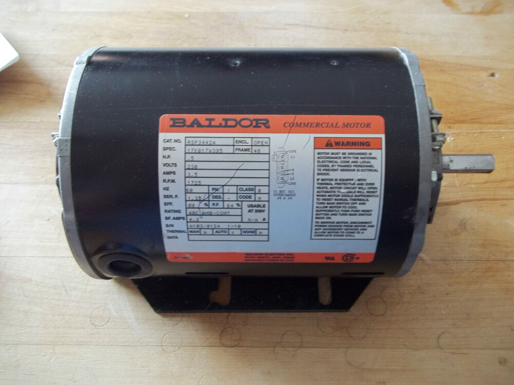 New Baldor Commercial Ac Motor 0 5 Hp Rsp3442a Ebay