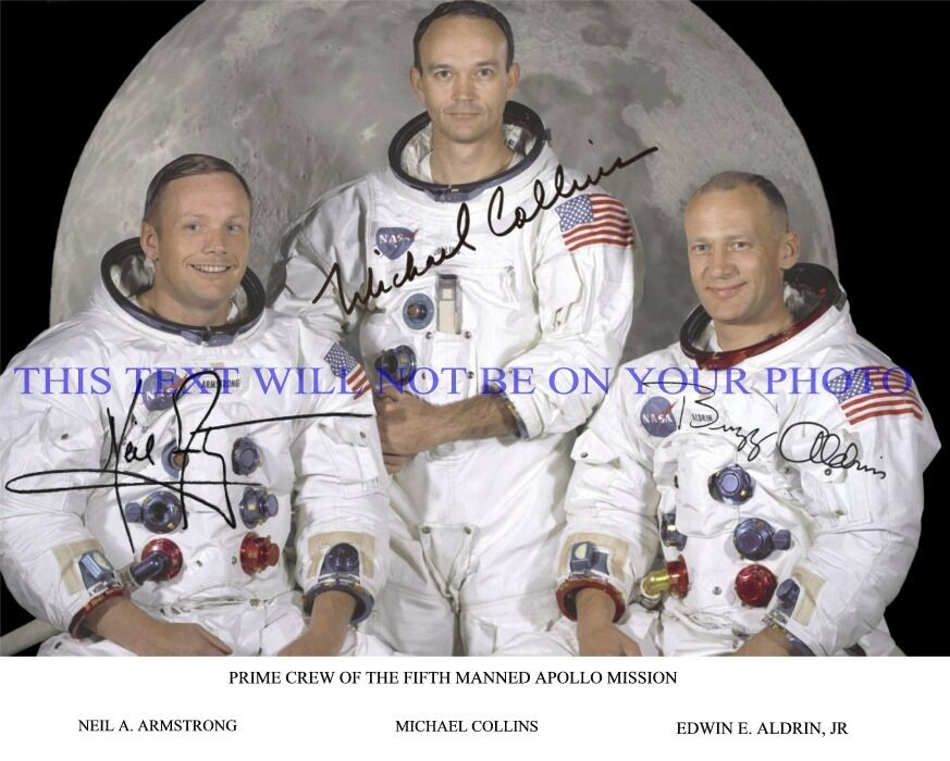 NEIL ARMSTRONG BUZZ ALDRIN MICHAEL COLLINS AUTOGRAPHED ...