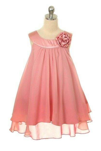 Vintage Rose Double Layer Satin Rosette Flower Girl ...