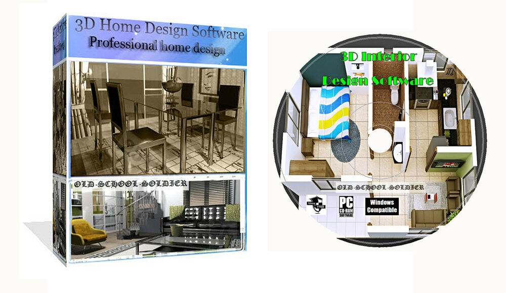 3d 2d Home House Room Office Interior Planing Design Pro Cad Software Pc Cd Ebay