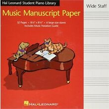 Hal Leonard Student Piano Library Music Manuscript Paper - Wide Staff