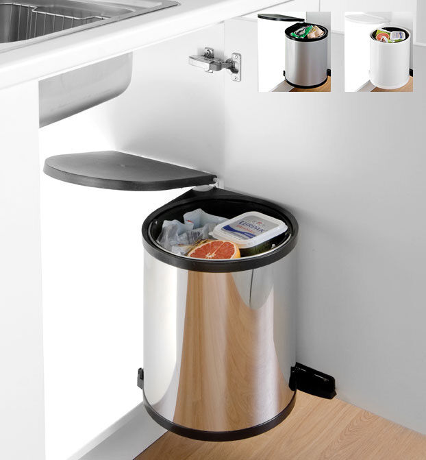 Kitchen Waste Bins: Kitchen Waste Bins – Round Cabinet Bins From Wesco