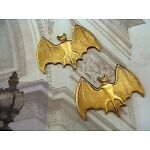Solid Raw Brass Bat Stampings (2) - S6847