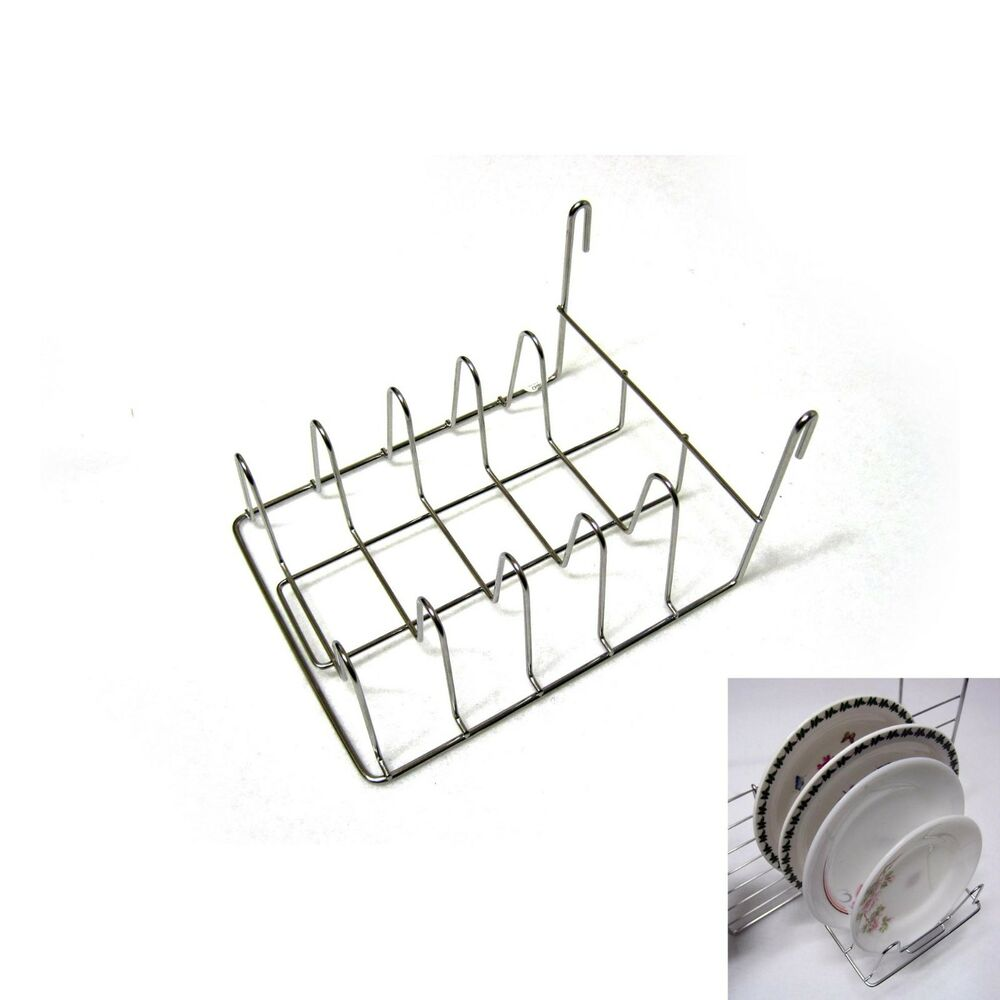 Wall space net dish drying hook rack kitchen organizer sink storage holder new ebay - Dish racks for small spaces set ...