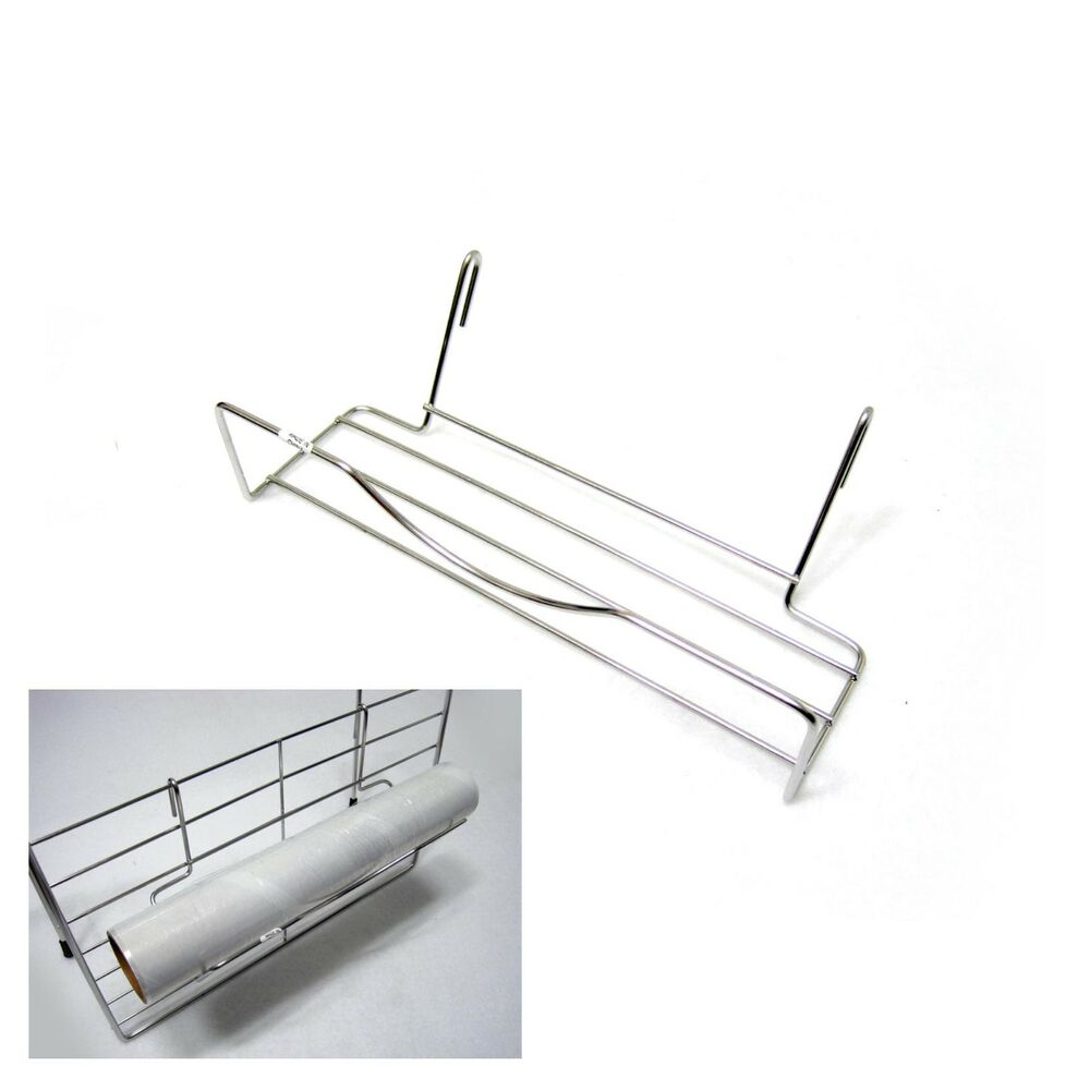 kitchen wrap storage rack stainless wire wall space net wrap hook rack aluminum 6581