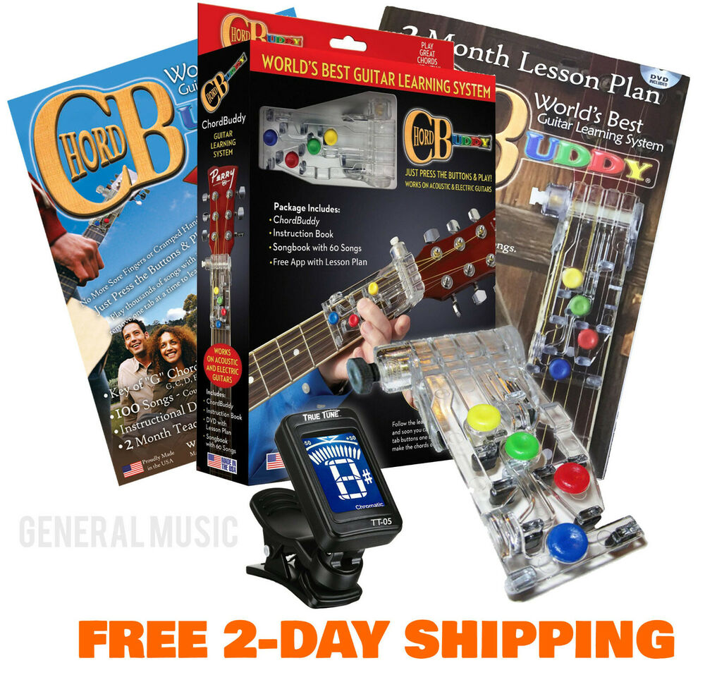new chord buddy guitar learning system teaching practice aid dvd book tuner ebay. Black Bedroom Furniture Sets. Home Design Ideas
