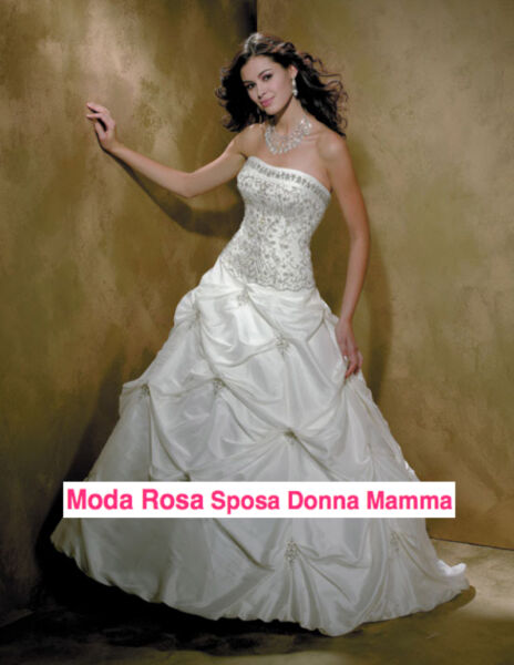 Abito da sposa - Wedding dress - Taffeta - Ricamato Strass e Perline - 00150