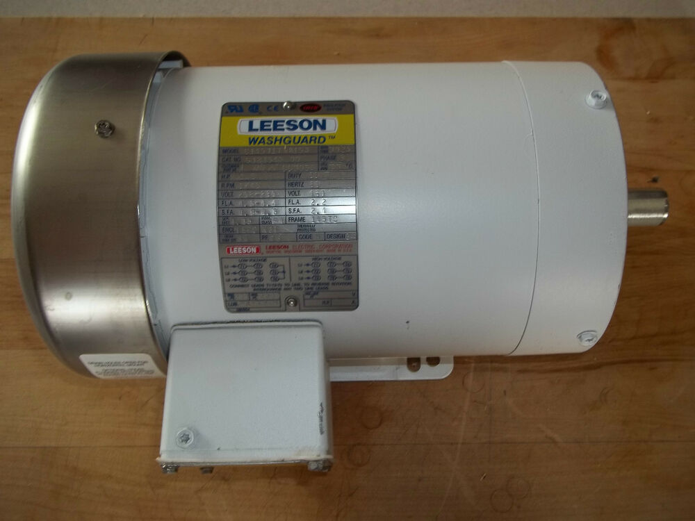 New leeson washguard three phase 1 5 hp ac motor for 1 5 hp 3 phase electric motor
