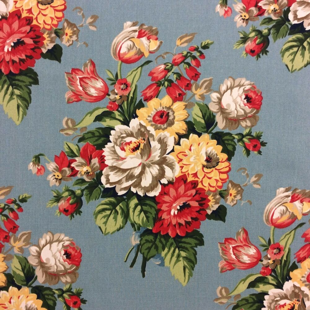 Pottery Barn Fabrics: S321 Pottery Barn Peony Floral English Garden Pillow Panel