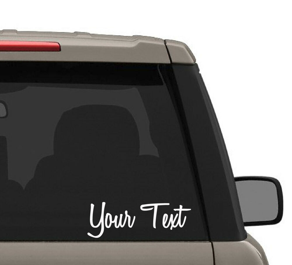 Custom car decal name personalized truck laptop bumper for Door mural decals