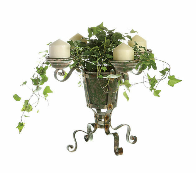 vintage rustic metal green garden plant stand candle holder wedding home decor ebay. Black Bedroom Furniture Sets. Home Design Ideas