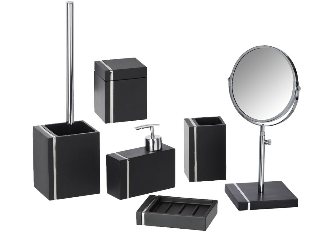 Bathroom Accessories Set With Mirror : Wenko noble bathroom accessories set tumbler soap dish