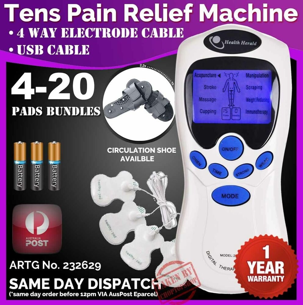 tens machine unit pain relief massager acupuncture extra pads bundles physio ebay. Black Bedroom Furniture Sets. Home Design Ideas