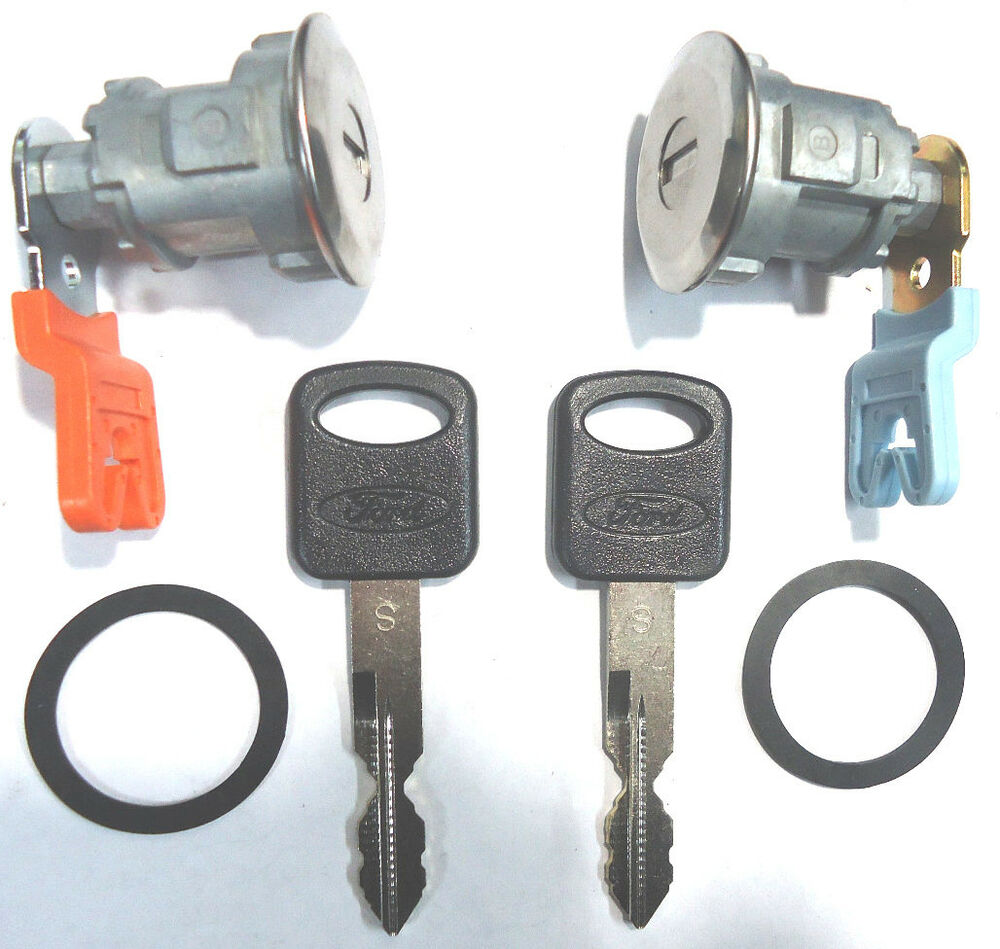 Ford Replacement 2 Pair Door Key Lock Cylinder Set W 2