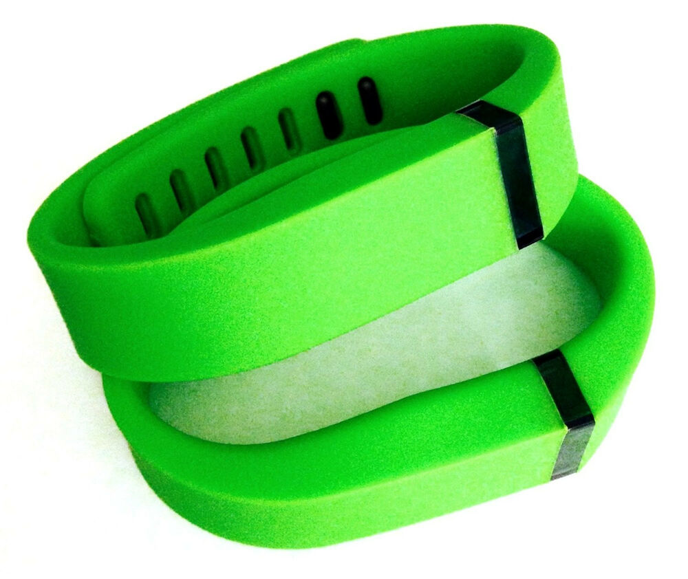 2 Small Lime GREEN FitBit FLEX Wristband/Bracelet Only (NO ...