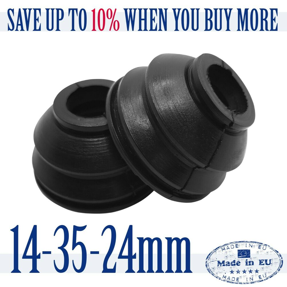 2 X Universal High Quality Rubber 14 35 24 Tie Rod End and Ball Joint Dust Boots | eBay