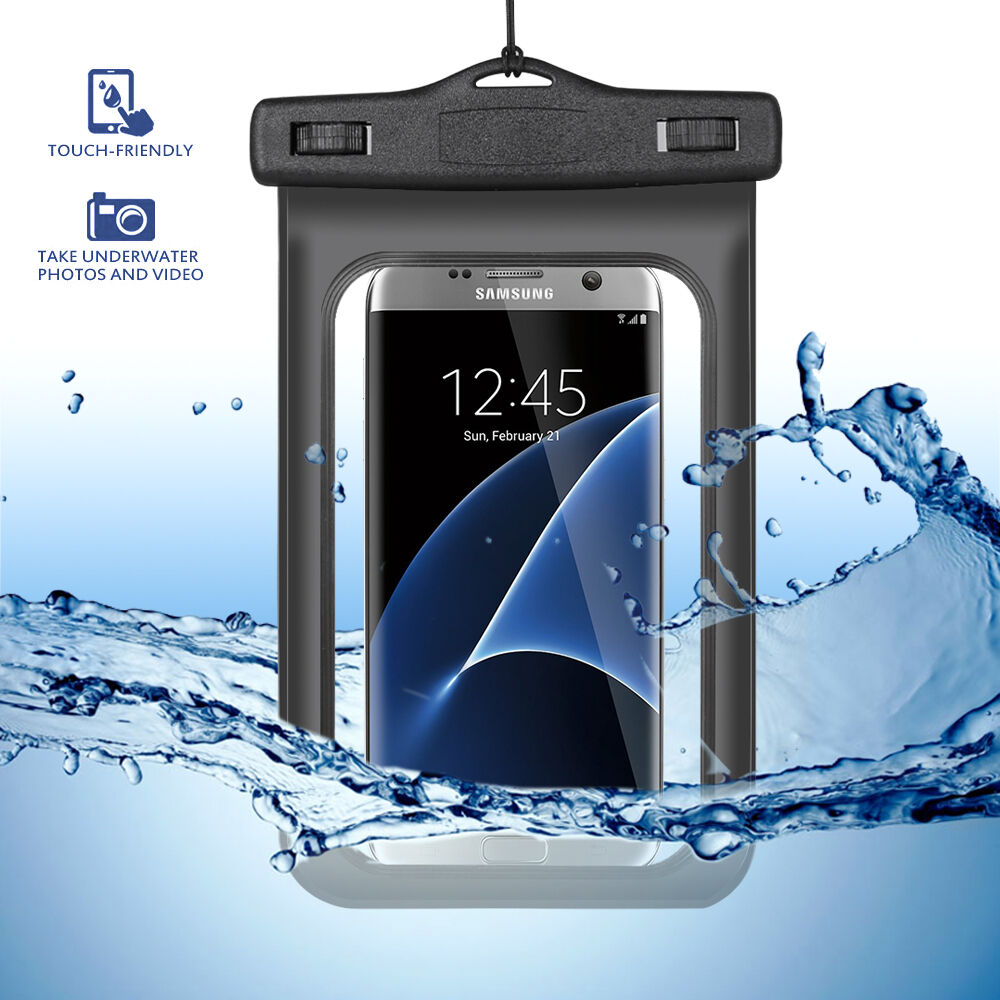 waterproof underwater water resistant case pouch for samsung galaxy s7 edge ebay. Black Bedroom Furniture Sets. Home Design Ideas
