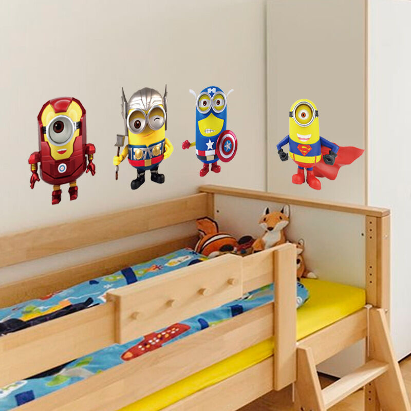 Despicable me 2 minion avenger union wall stickers kids for Room decor 5d wall stickers