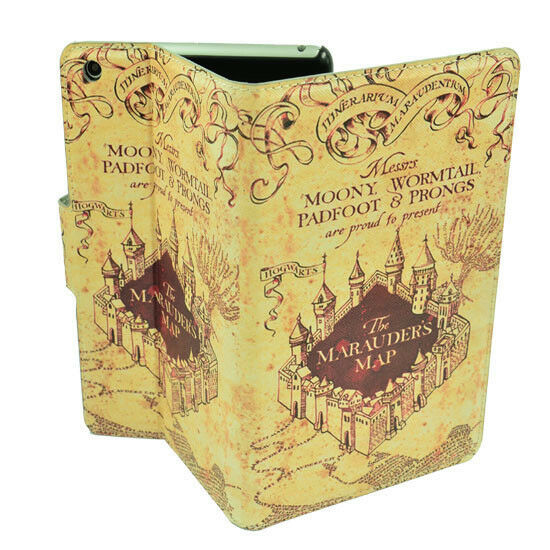Marauders map cover dress black milk - The Marauder S Map Harry Potter Pu Leather Case Stand Cover For Ipad