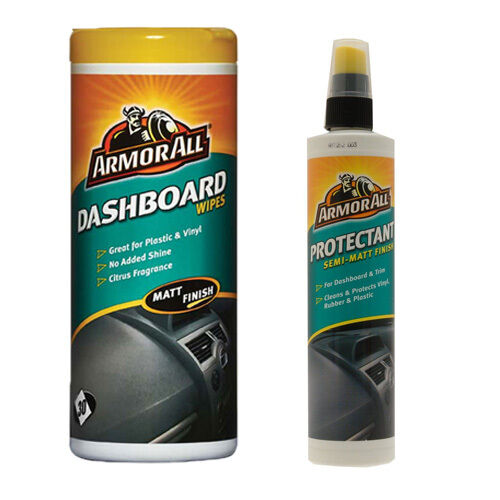 armorall protectant spray 300ml car dashboard interior wipes tub matt finish ebay. Black Bedroom Furniture Sets. Home Design Ideas