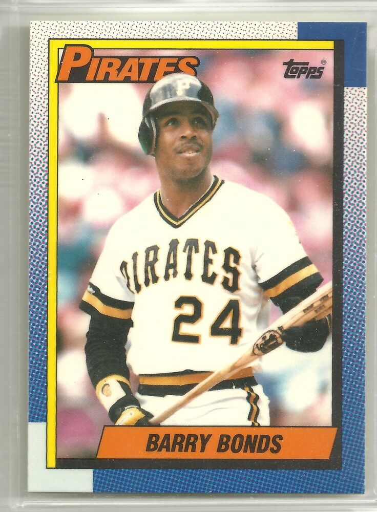 Barry Bonds 1990 Topps Tiffany Pittsburg Pirates Glossy ...
