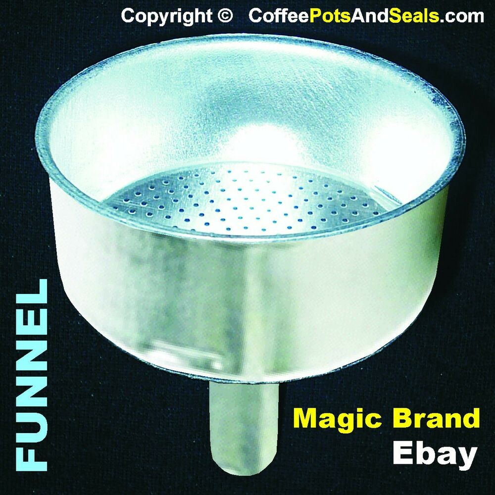 6 Cup FUNNEL Bialetti Replacement Aluminium Express Coffee Pot Maker 06877 New eBay