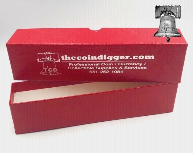 8 coin storage box red 9x2x2 holder single row for 2x2 for Money storage box