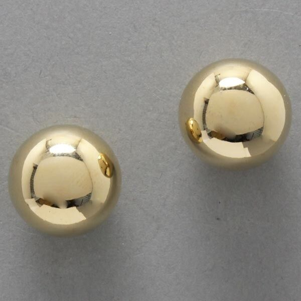 New Women Fashion Trendy Glamour Gold Ball Round Stud