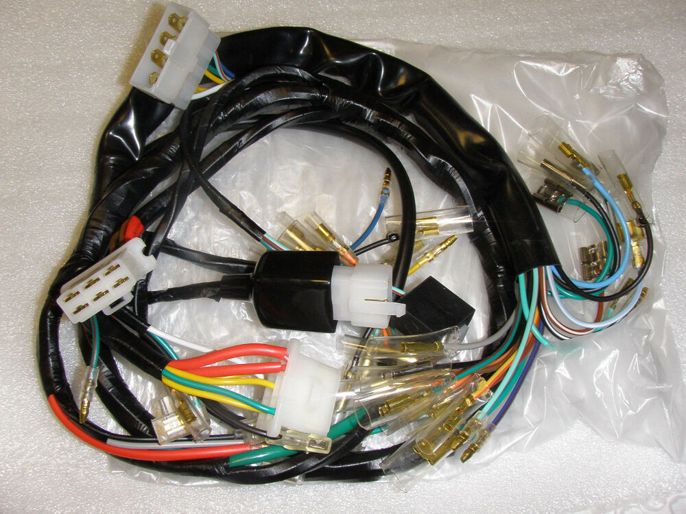 honda new 1976 cb750k 76 wire harness cb 750 cb750k 32100 ... amp wiring harness for cb amp wiring diagram for 2001 chevy suburban on