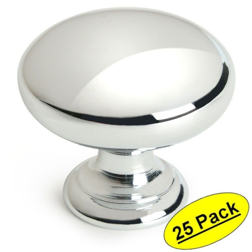chrome kitchen cabinet knobs 25 pack cosmas cabinet hardware polished chrome knobs 13586