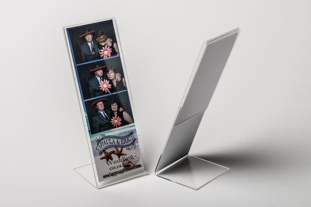 Photo Booth Frame 2x6 acrylic picture frames 50 pcs L style slanted ...