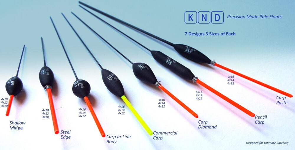 Knd precision match pole floats for carp commercial for Fishing pole floats