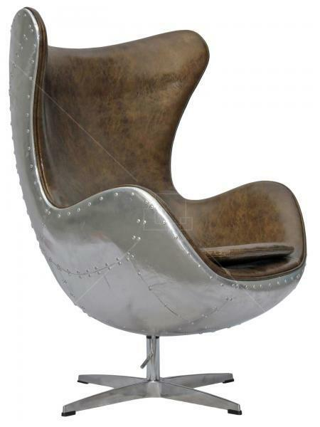 aviator arne jacobsen aj egg chair aluminium spitfire real vintage leathers ebay. Black Bedroom Furniture Sets. Home Design Ideas