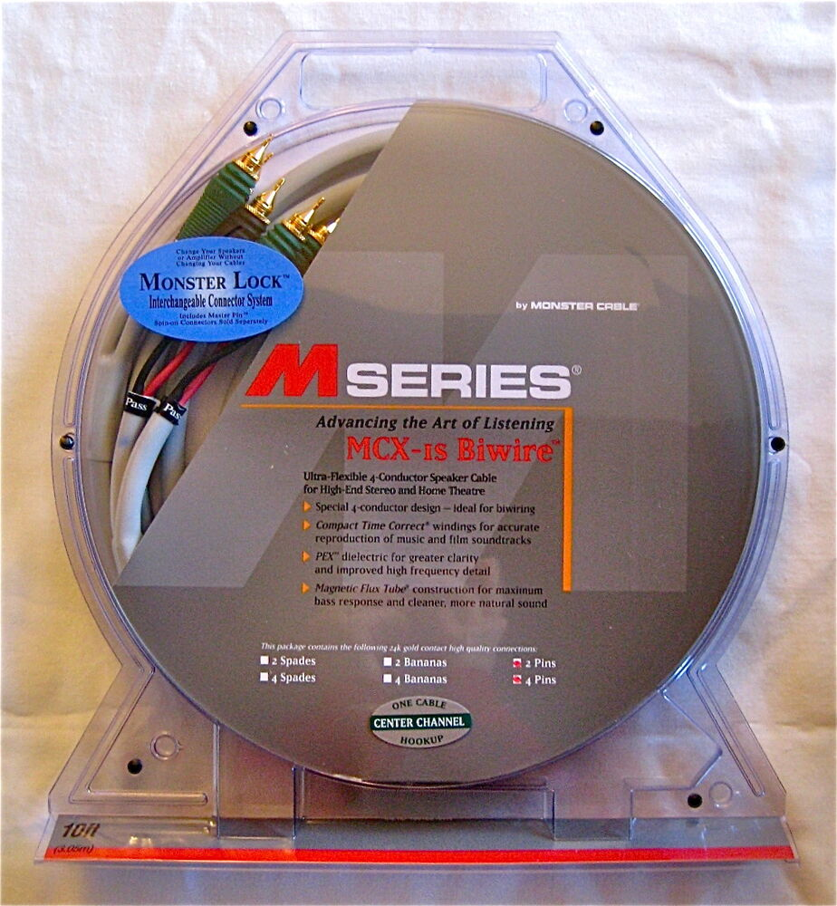 Monster Cable M Series Mcx 1s Biwire Bi Wire Center Speaker Wiring Speakers Diagram Subwoofer 10 Sub 50644228315 Ebay
